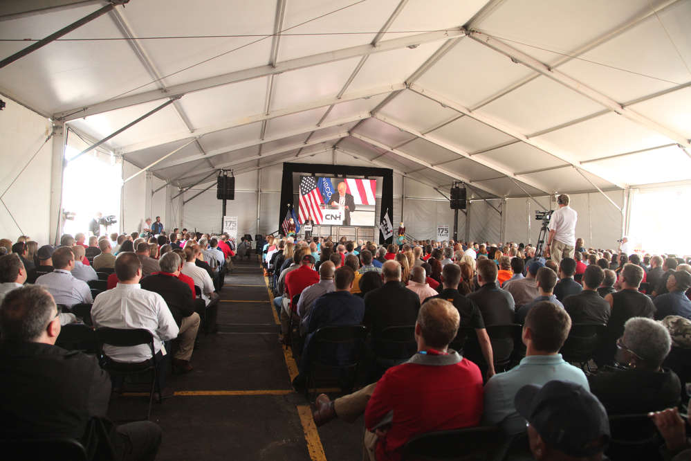 More than 800 employees gathered for the event in Racine, Wis.