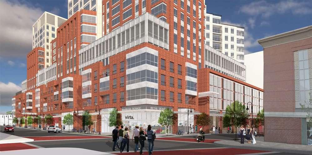An artist rendering of the new Burlington Town Center. (Devonwood photo)