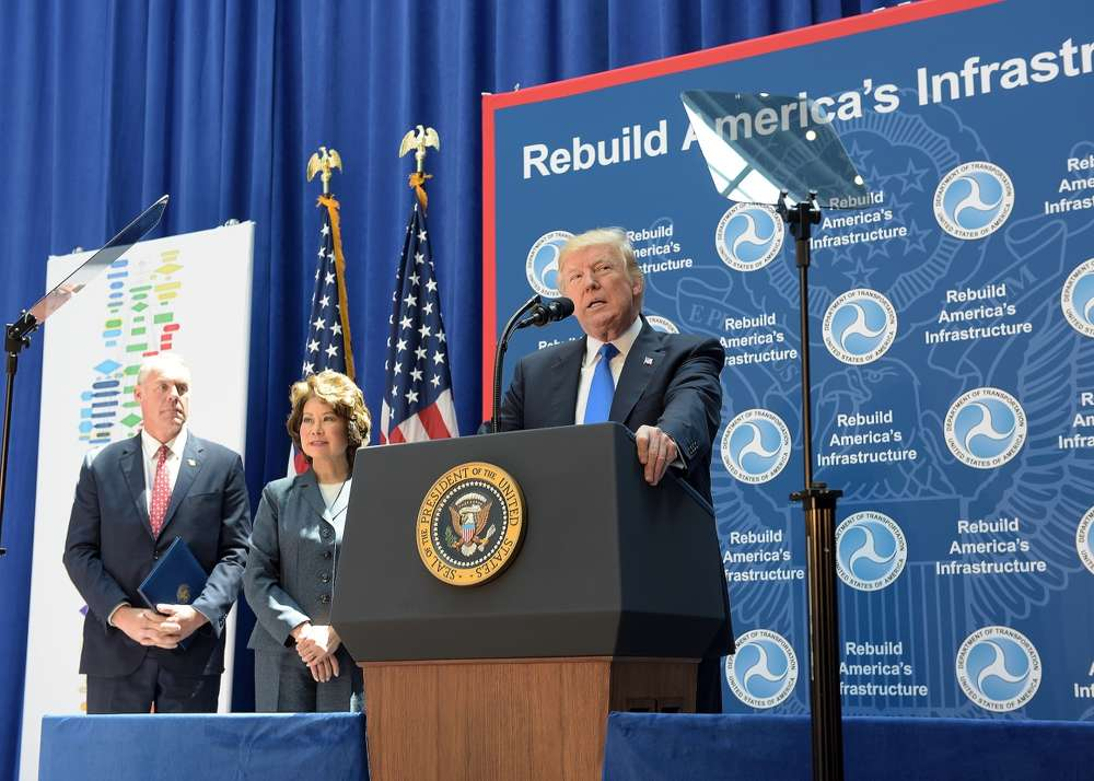 U.S. Department of Transportation Secretary Elaine L. Chao joined President Donald J. Trump in the closing event of