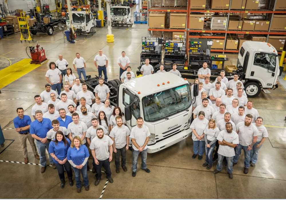 The Spartan Motors facility produced Isuzu's 40,000th gasoline-powered N-Series truck.