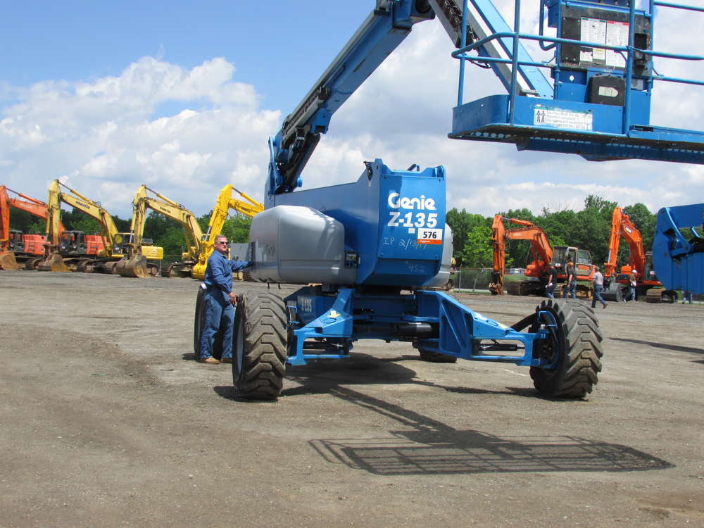 Chris Andrusko, James D. Morrissey Inc., Philadelphia, Pa., purchased this Genie Z135/70 boom lift.