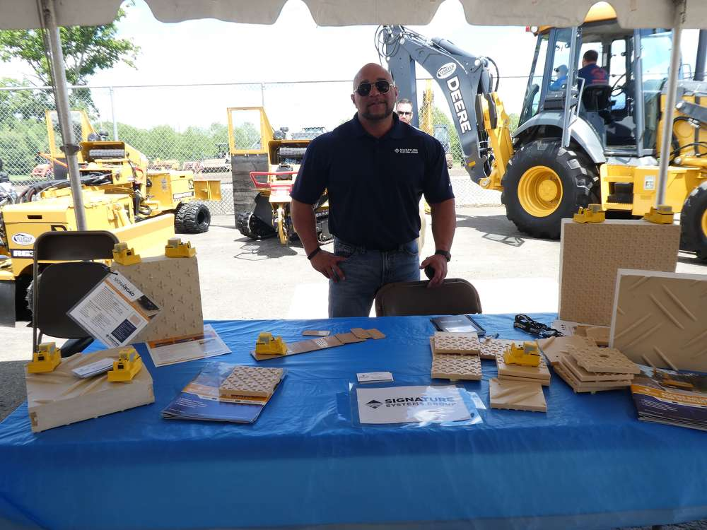 Bill Vanscoy of Signature Systems Group had several matting samples on display in the vendor tent area.