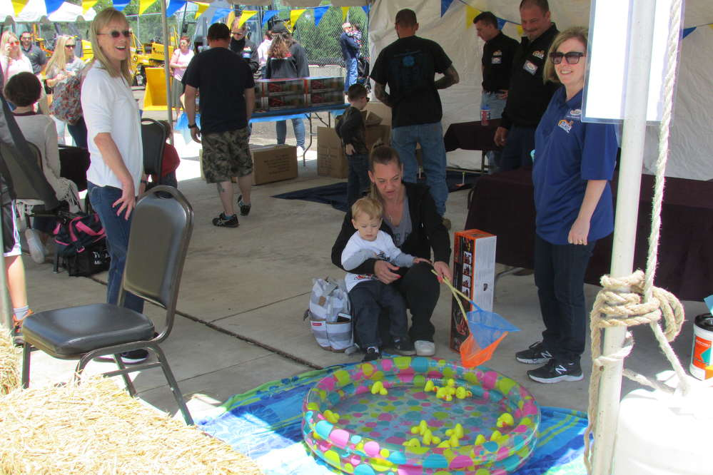 Harter Equipment made sure guests of all ages had plenty to do during the anniversary open house.