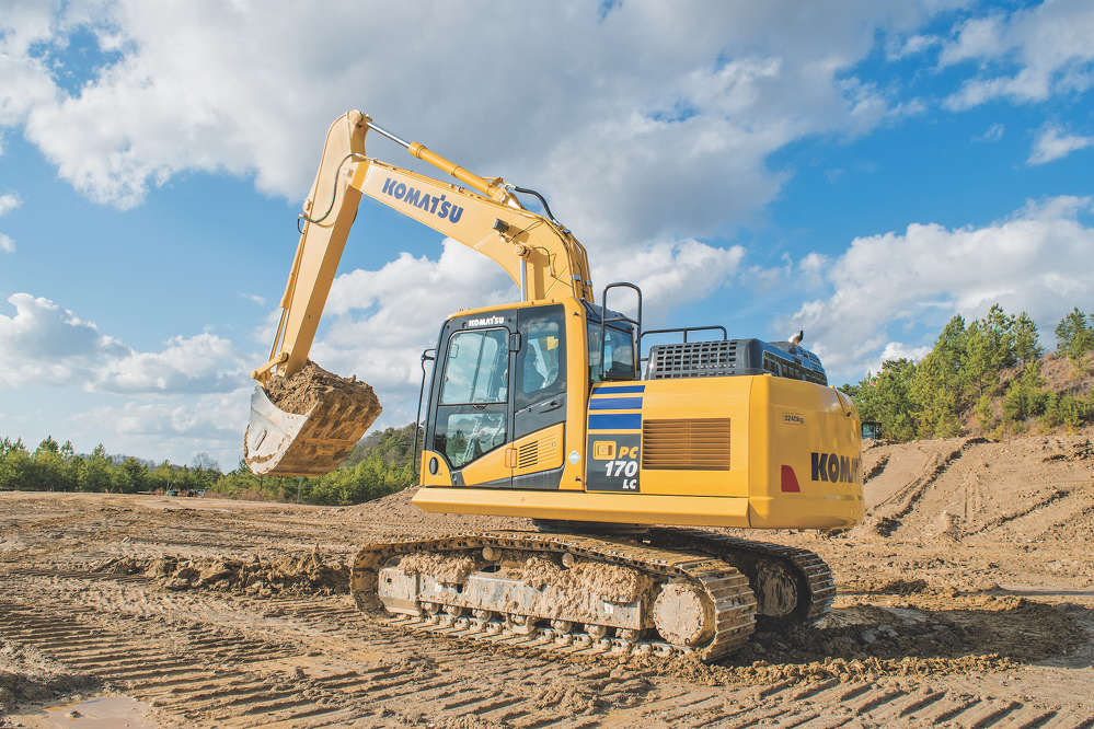 Komatsu's new 121-hp, Tier IV Final PC170LC-11 excavator has two counterweight options to best fit the machine to its application.