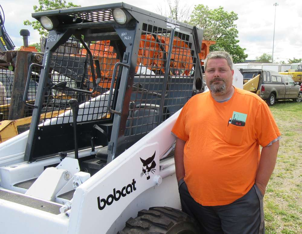 Floyd Williams of Williams Property Management was hoping to land a skid steer at the auction.
