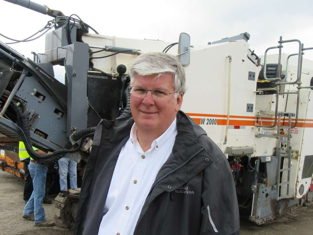 Mark Pentz of the Calvin Group Inc., came for the paving machines at the auction.