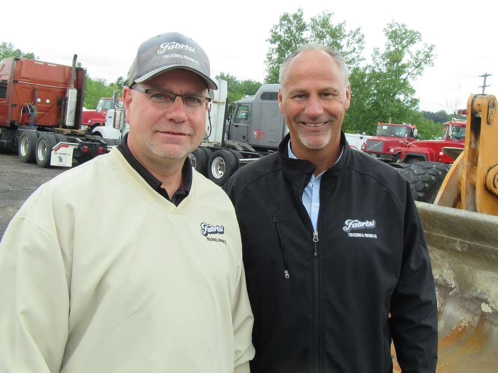 Emil Fabrizi (L) and Pete Falvo, both of Fabrizi Trucking & Paving, came down from Cleveland to take in the auction.
