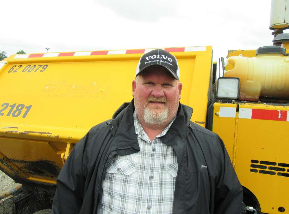 Josh Poston of Rudd Equipment Company,  stopped by to see the auction, which was held around the corner from the dealership's Columbus branch.