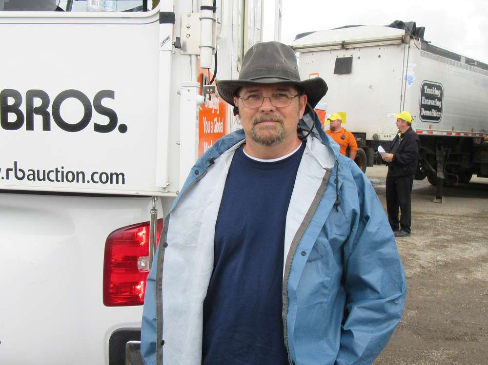 Butch McCaleb of Starr Parts and Equipment,  was at the auction in search of bargains.