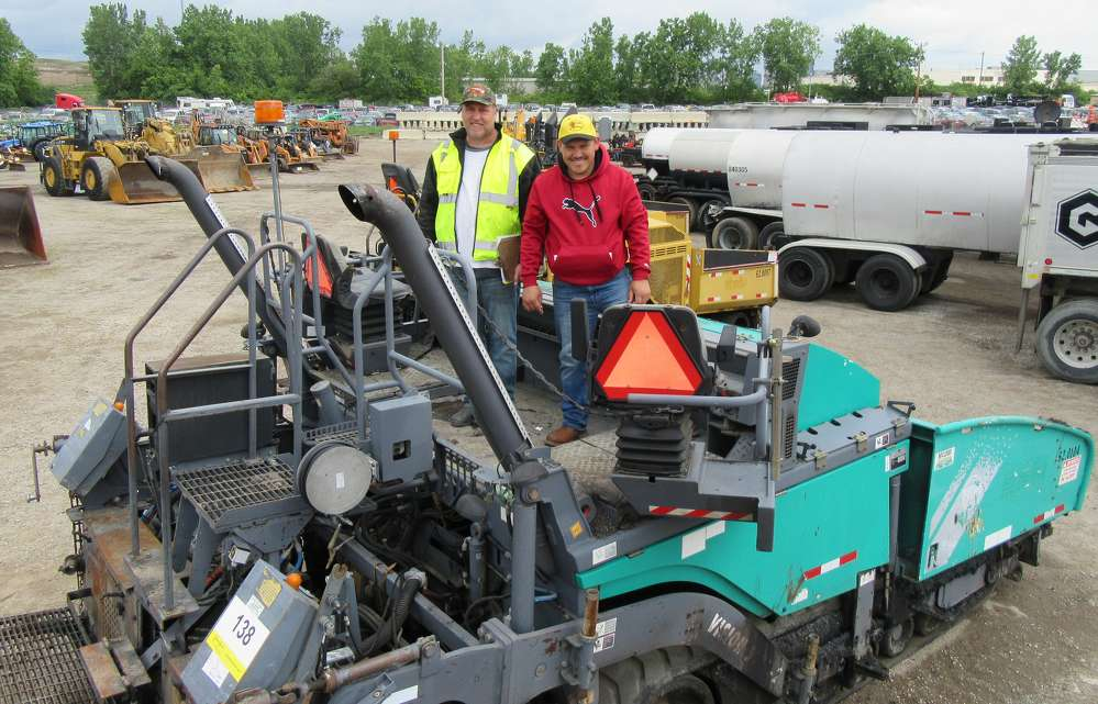 Paul Phillips (L) and George Rodriguez, both of Chagrin Valley Paving, are Shelly Company customers and have now sourced the company for their equipment needs.
