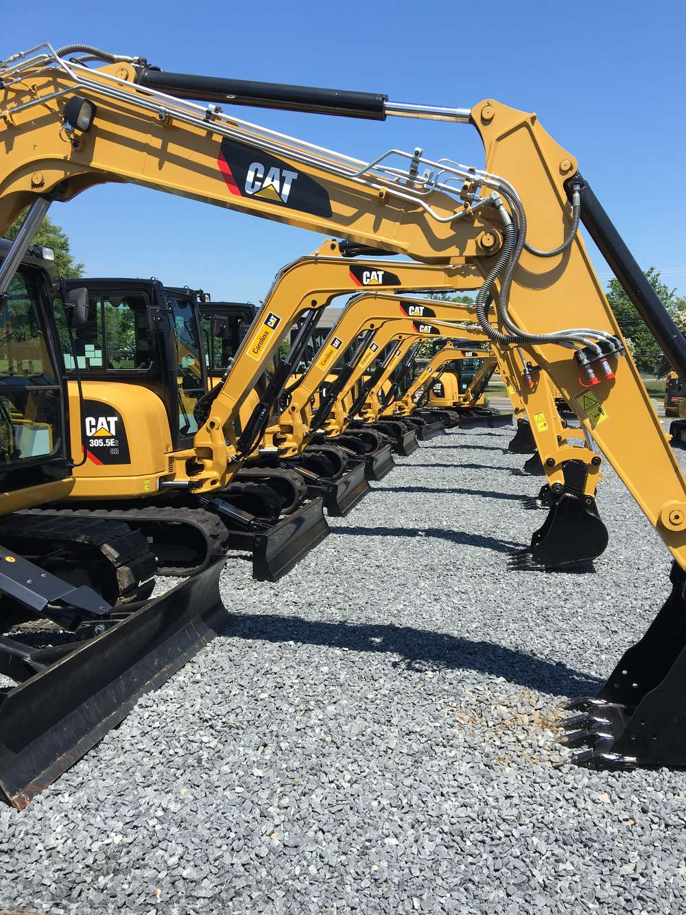 Many of Caterpillar's newest machines were on display for the guests to look over.