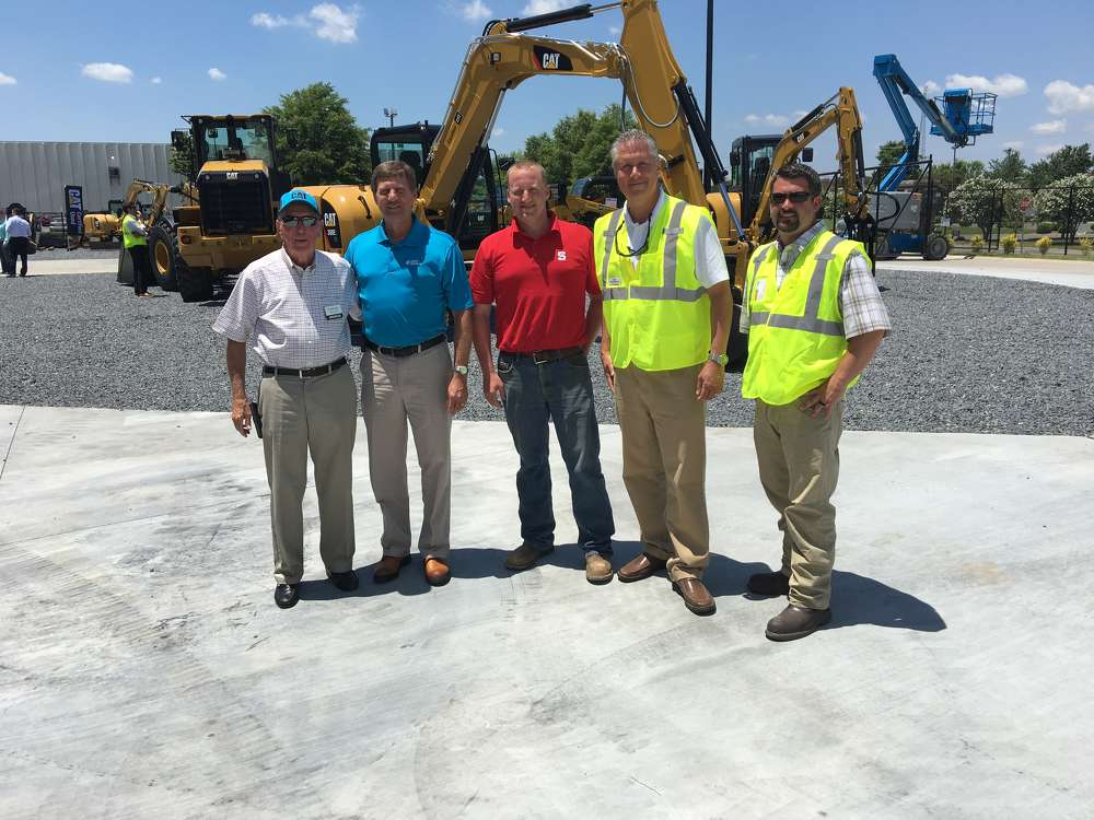 (L-R) are Ed Weisiger Sr.; Chris Jolly, Duke Energy; Allen Robson, Lane Construction Company in Charlotte; Mitch Christenbury; and Rusty Lipe, both of Carolina CAT.