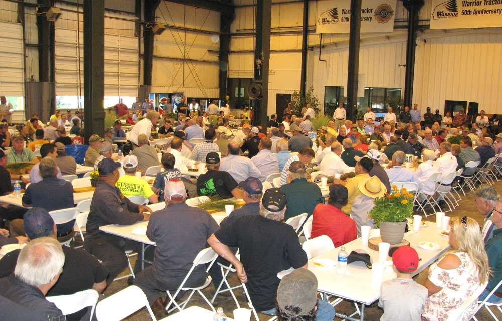 Approximately 500 attendees came out to celebrate Warrior Tractor's 50th anniversary at the Northport, Ala., location.