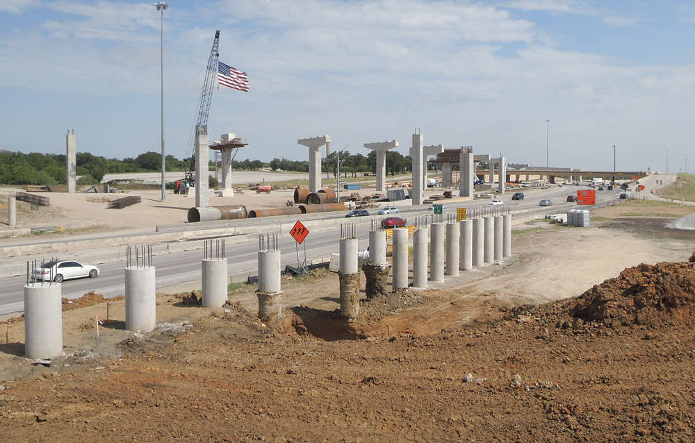 Capacity of the highways will be increased through construction of a TEXpress toll managed lane in each direction. (DFWFreeways.com photo)