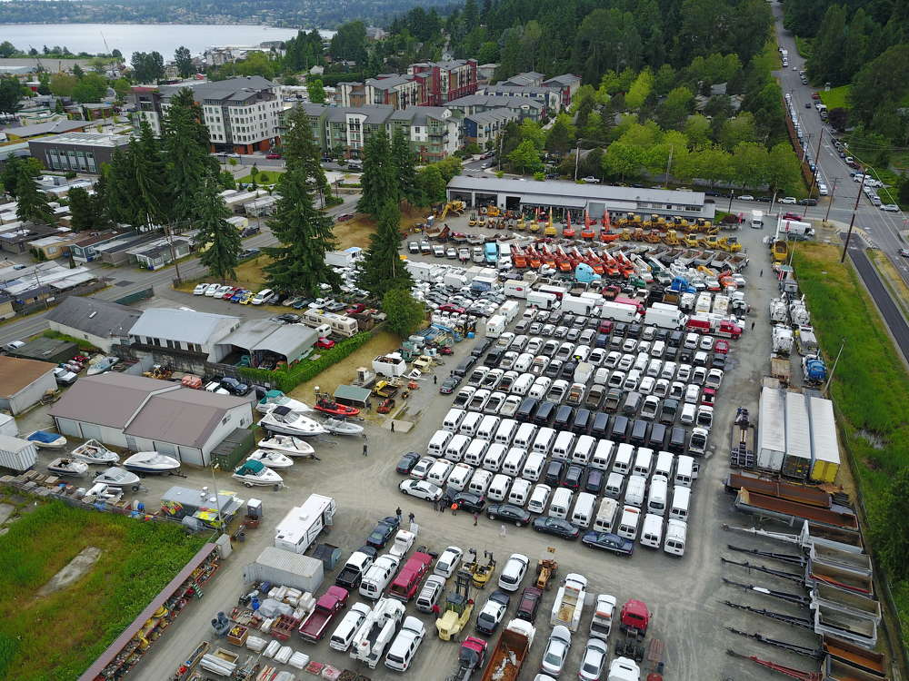 Drone pilot Mike Smith provided some great aerial photos and video of a full yard.