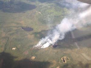 Alaska Division of Forestry are fighting or monitoring 15 fires burning in southwest Alaska. (Alaska Wildland Fire Information photo)
