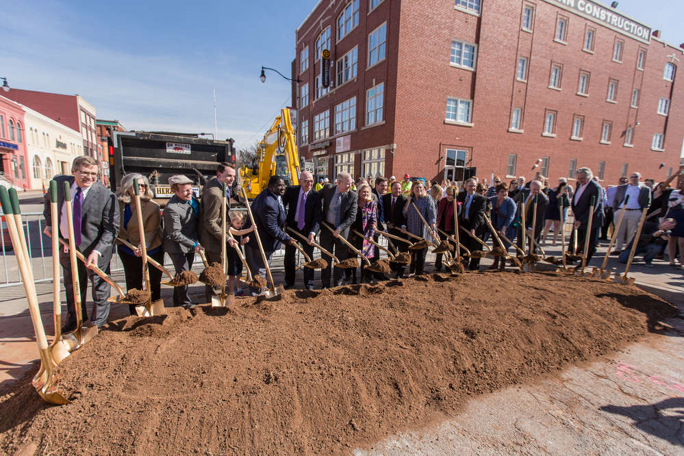 Civic leaders broke ground on the MAPS 3 Oklahoma City (OKC) Streetcar track line in February, starting work on the metro's first streetcar system in generations and launching a new era in local public transit.