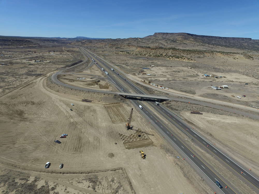 Construction is under way on a $12.5-million bridge replacement project at the Interstate 40 and NM 124 interchange (Exit 96) in McCarty's, west of Albuquerque, N.M.