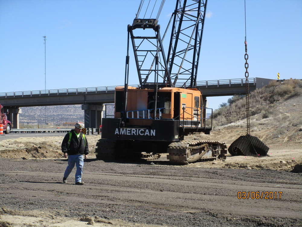 The project was needed because the bridge was aging and both the on-ramps and off-ramps needed to be lengthened. (NMDOT photo)