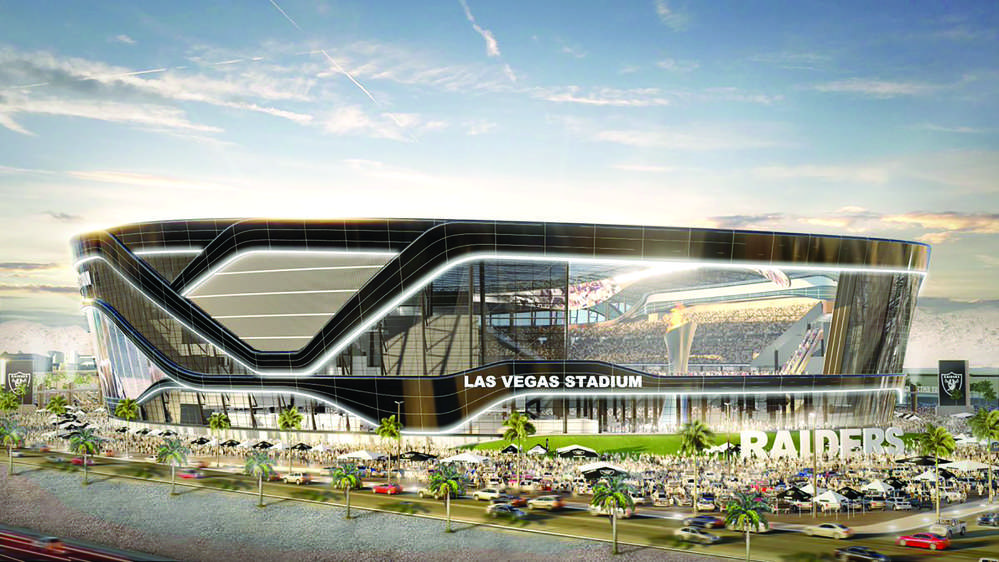 The Raiders want to kick off the 2020 season at the 65,000-seat domed stadium they plan to build near the Las Vegas Strip. (Manica Architecture photo)