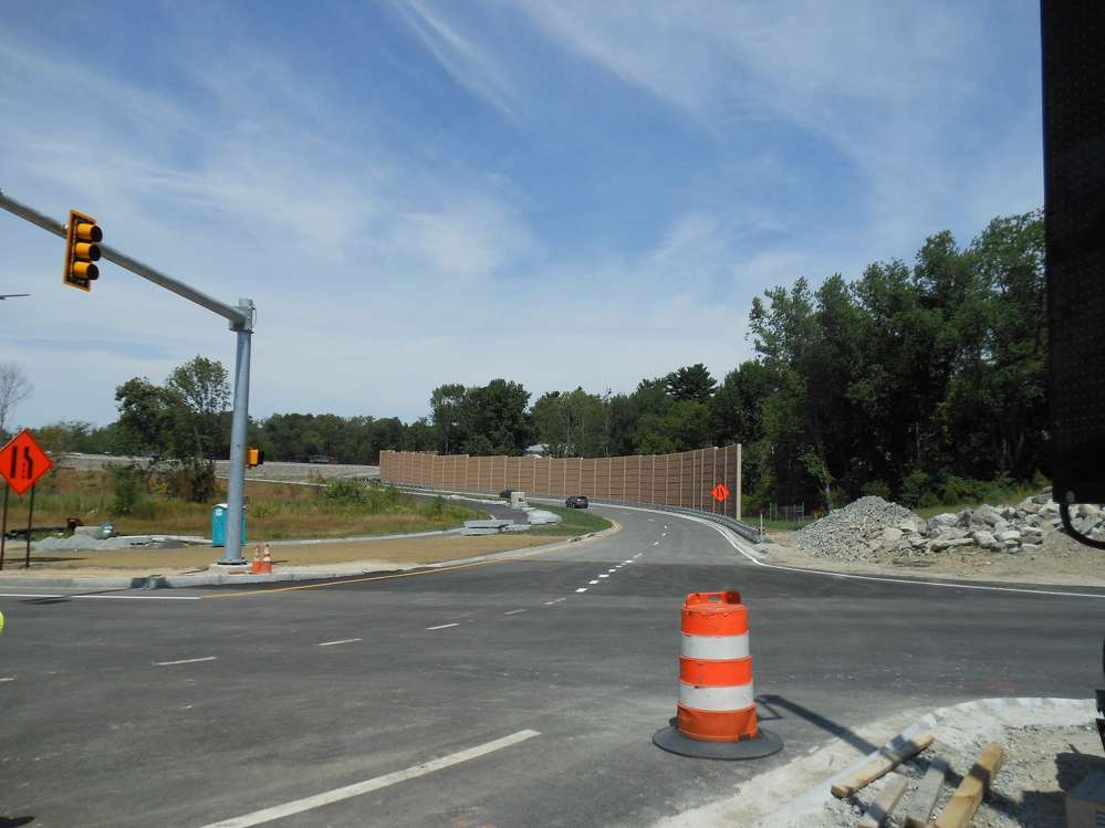As part of the Methuen Rotary Reconstruction Project, new off- and on-ramps were added to northbound and southbound directions of I-93. (MassDOT photo)