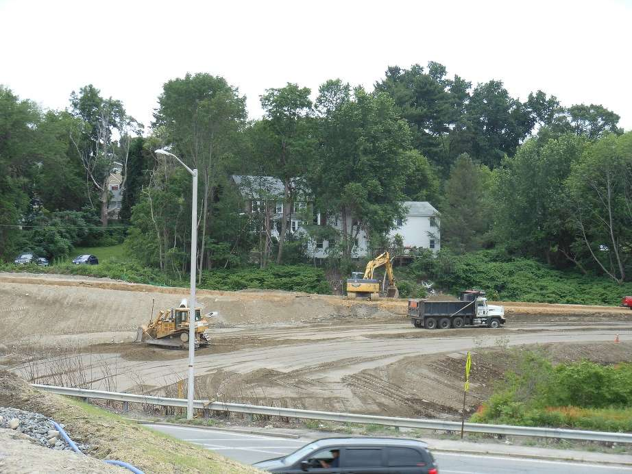 The Methuen Rotary Reconstruction Project is the first project in Massachusetts to participate in a pilot program using intelligent compaction, which uses GPS technology and instrumentation to monitor compaction. (MassDOT photo)