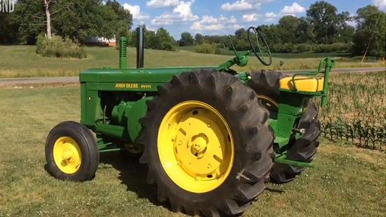 Jacob Mettler volunteered to restore a 1954 John Deere Model R tractor.