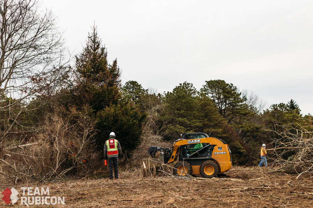 Case dealer Robert Childs Inc. of South Dennis, Mass., donated all of the heavy equipment to be used in the Coonamessett Reservation land clearing project.