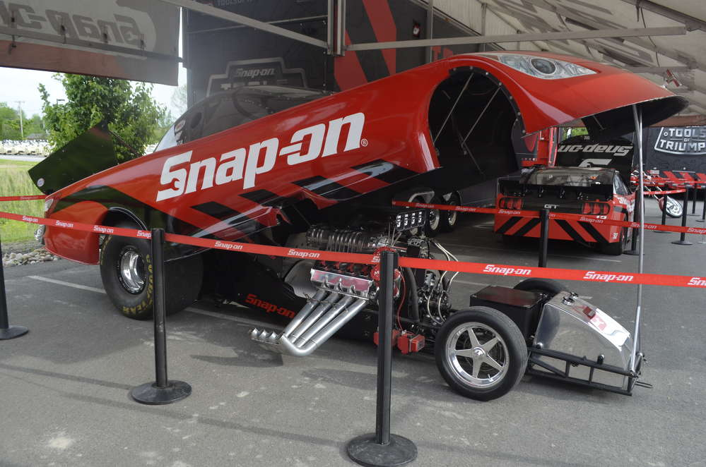 The Snap-On drag racer from Cruz Pendgergon Racing. How often can you get up close to a racing machine of this caliber?