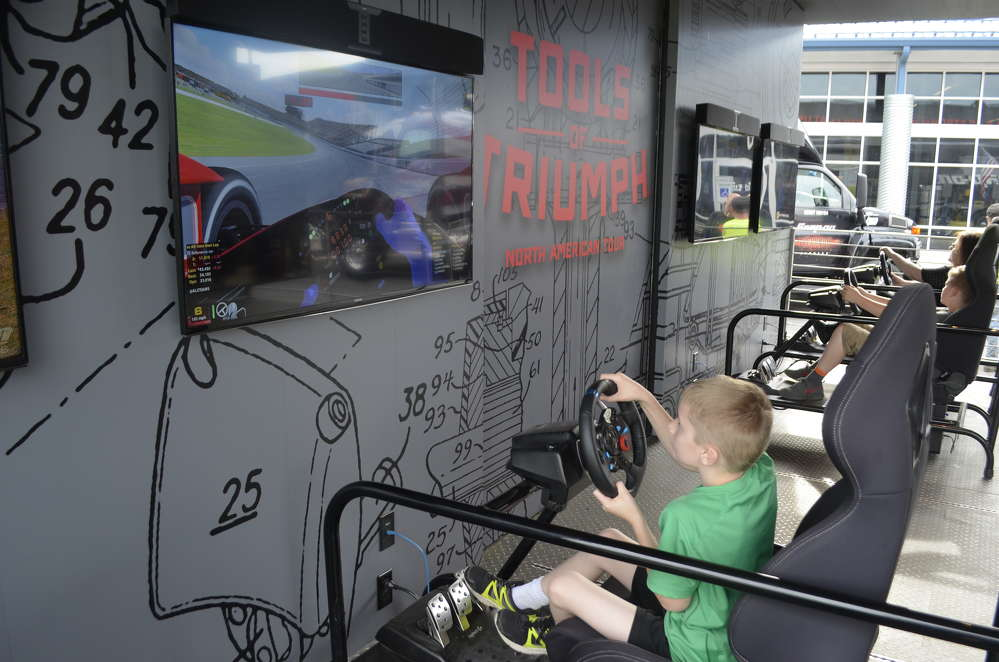 A racing simulator allows competitors to race each other, as well as drivers from across the country.