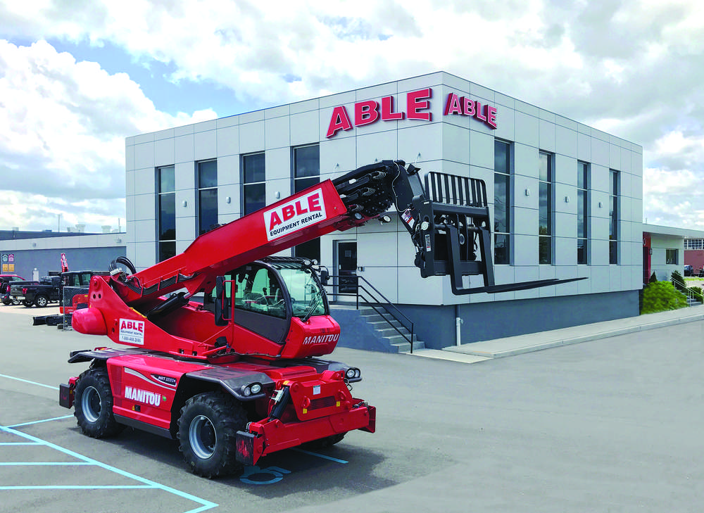 ABLE Equipment Rental will partner with Manitou to sell the heavy capacity telescopic handlers and rotating telescopic handlers.