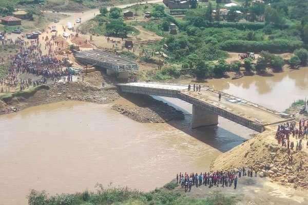 The Sh1.2 billion Sigiri Bridge in Budalang'i Constituency that collapsed. (Gaitano Pessa Nation Media Group photo)