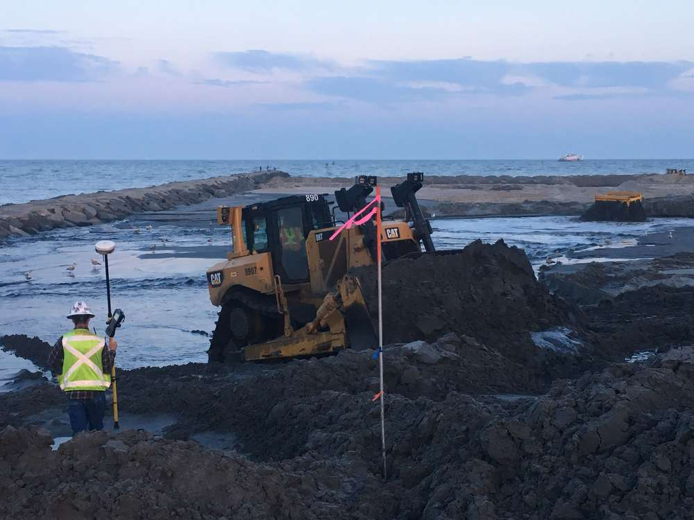 Work involves completing the dune and berm system in Margate and Longport, as well as the scheduled nourishment of the previously constructed section of the project in Atlantic City and Ventnor City.
