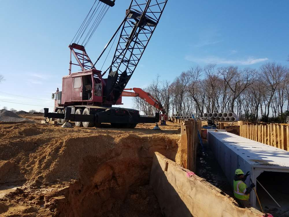 With the recent completion of the pump station, they are now able to begin drainage tie-ins and further progress through this stage of construction.