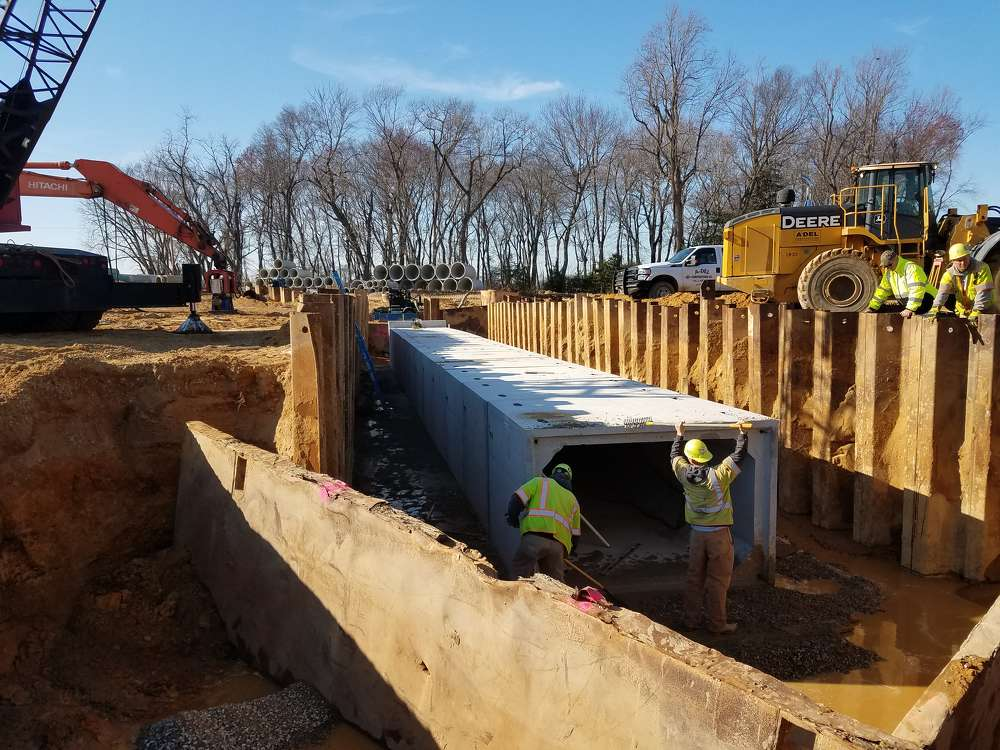 Newark-based A-Del Construction Co. Inc., which specializes in the building and repair of heavy civil construction projects, is the general contractor.
