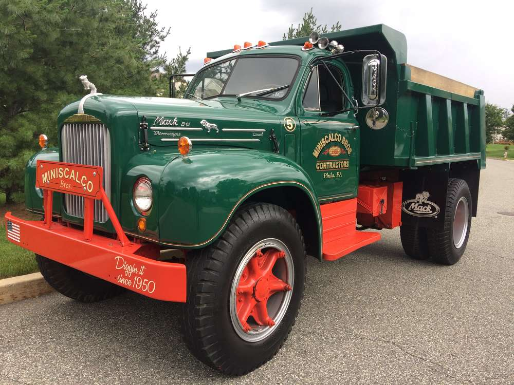Seen here is a truck Hank Miniscalco drove delivering cinders in his early days for his company.