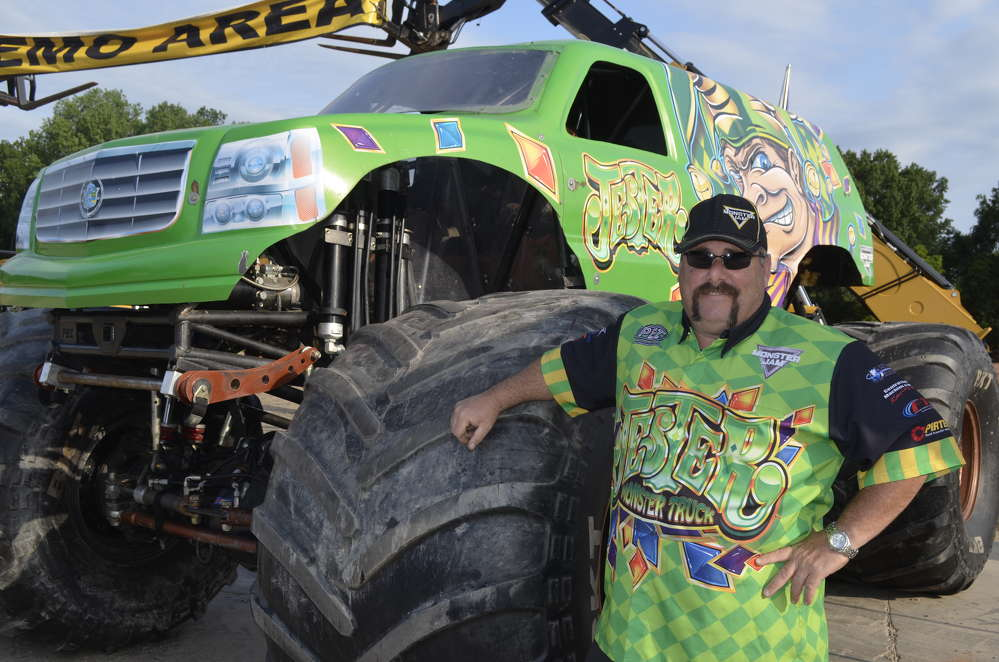 "For the ""motor heads"" in attendance, Matt Pagliarulo was on hand to show off the Jester monster truck."