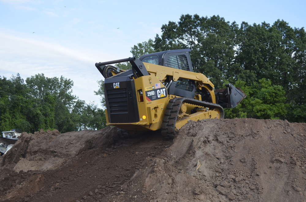 A Cat 299D2 tracked loader was available in the demo area for customers to experience for themselves the tremendous versatility that a Cat CTL can provide contractors for their equipment fleets.