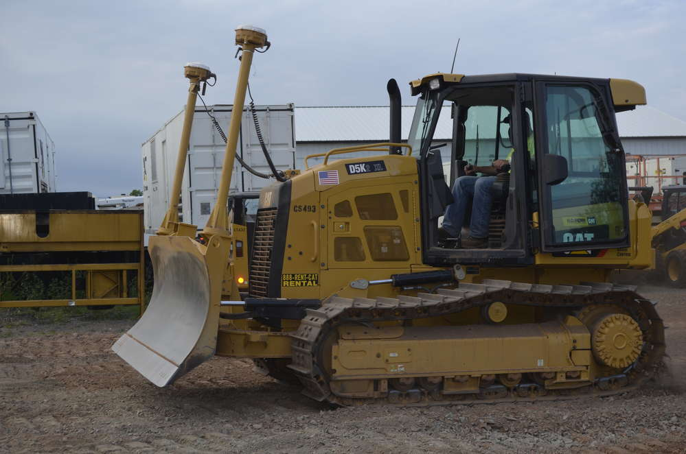 The Cat D5K equipped with Trimble Grade Control technology removes all the guess work, as well as surveying stakes, when creating a grade.