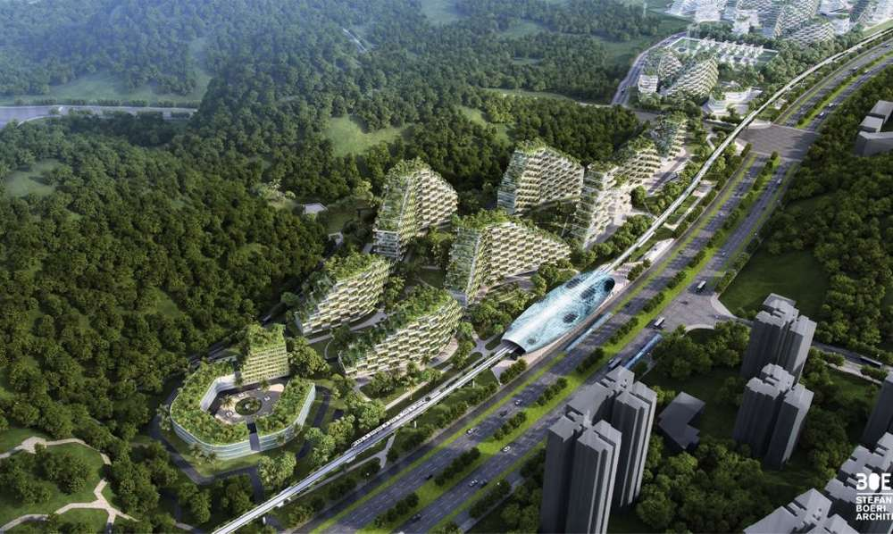 Liuzhou Forest City will be self-sufficient, running on renewable energy sources such as geothermal and solar energy.