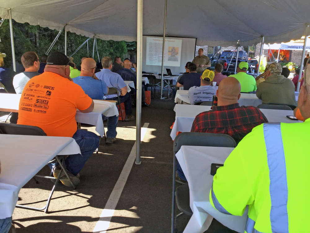 Joe Little, Michigan Rural Water Association, explains the OSHA standards pertaining to confined space safety.