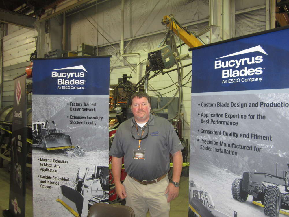 Kevin Burris, district sales manager, Bucyrus Blades, discusses the company's product line.
