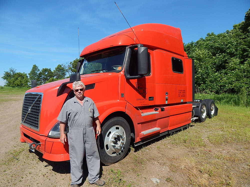 Dale Holton purchased this 2013 Volvo from Buy & Sell and EZ Way Car Crushing, Newfolden, Minn.