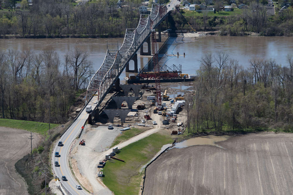 St. Louis-based Alberici Constructors is engaged in a major hometown project — the construction of the new Route 47 Missouri River Bridge, located roughly 75 mi. from Jefferson City and about 50 mi. from St. Louis, which provides a vital link between Warren County to the north and Franklin County to the south.