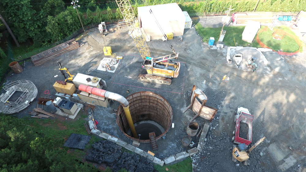 """""""The unique thing we are doing is called a blind bore,"""" said Brian Walker, vice president of water and waste of PC Construction Company, headquartered in Burlington, Vt."""