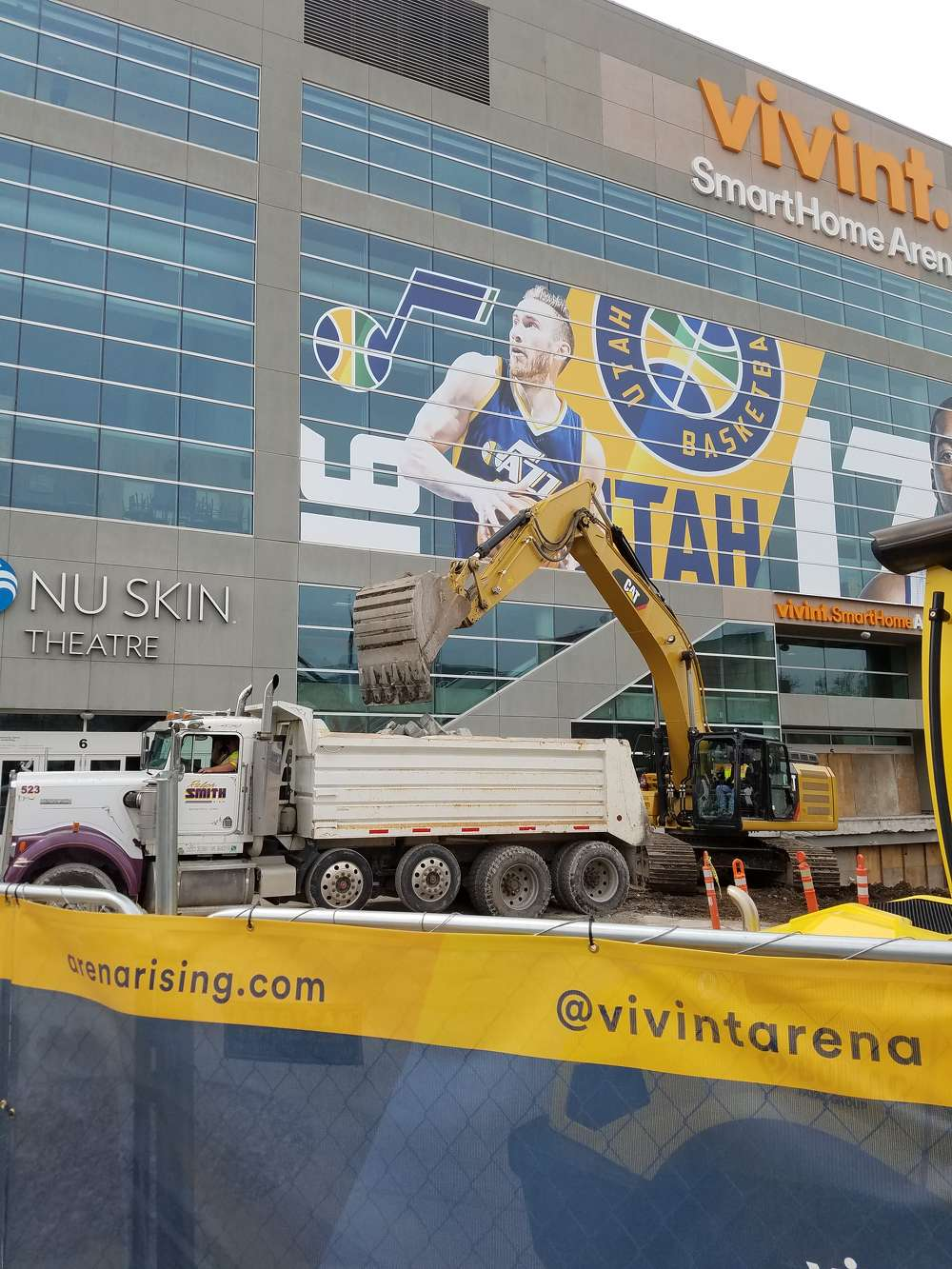 Vivint Smart Home Arena is the scene of some major construction work as it undergoes a $125 million renovation.