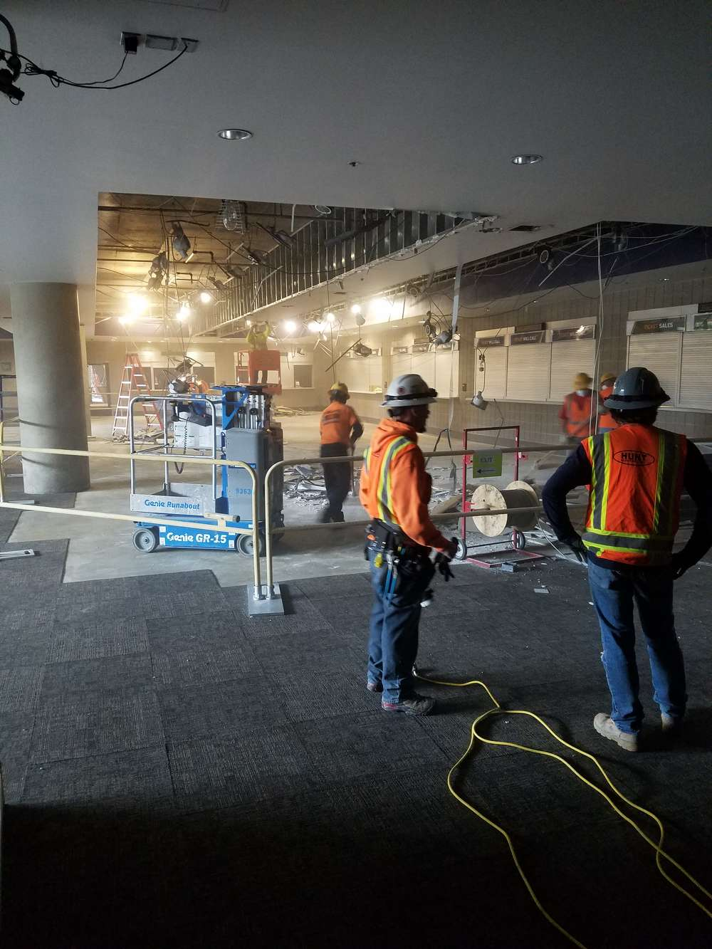 Most of the construction work is interior demolition and interior renovation.