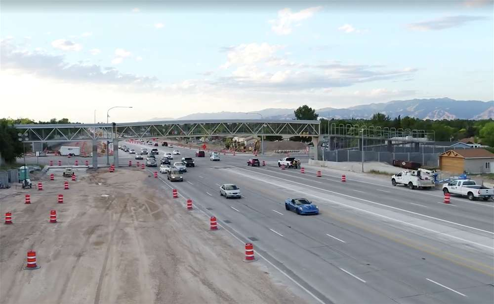 UDOT crews removed the pedestrian walkway over the intersection along Bangerter Highway so work can begin on a new freeway-style interchange, one of four which will be built by the end of 2018.