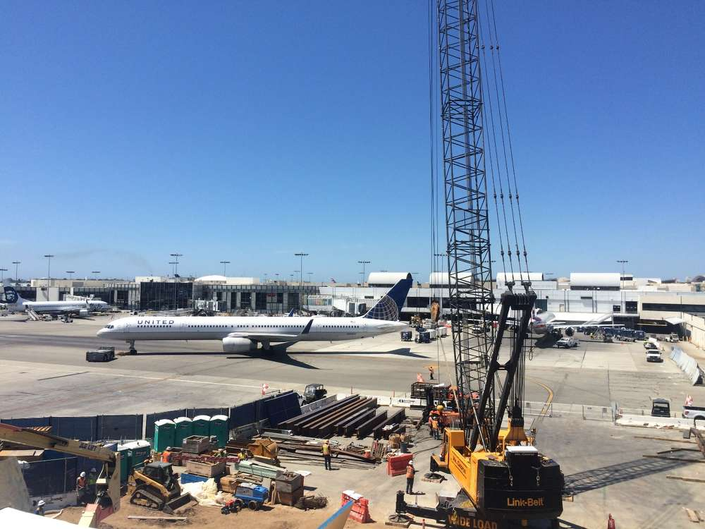 Virtually all of United Airlines' public space in terminals 7 and 8 at Los Angeles International Airport will be renovated as part of a $573 million construction project.