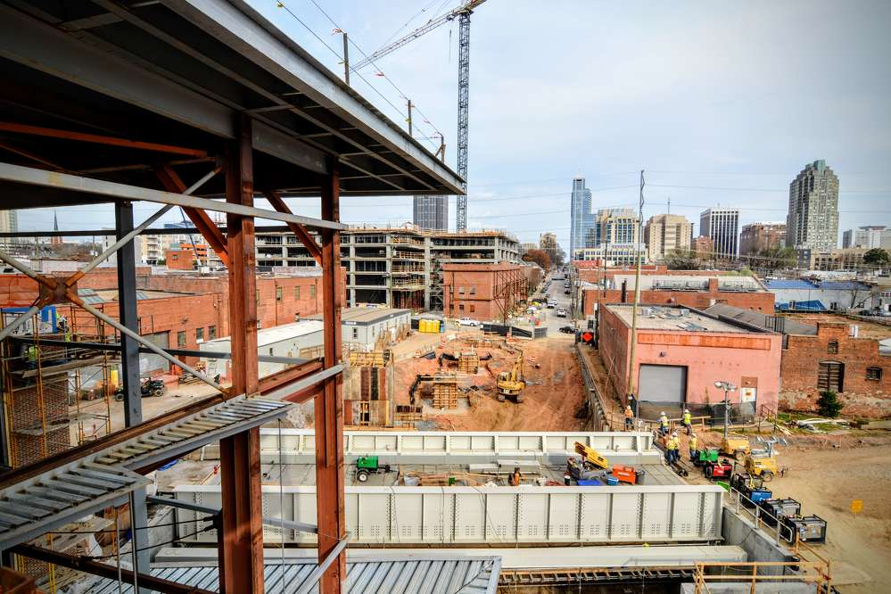 The North Carolina  Department of Transportation (NCDOT) and the city of Raleigh have teamed to build the passenger train station. (City of Raleigh photo)
